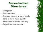 decentralized structures