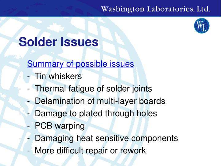 Solder Issues