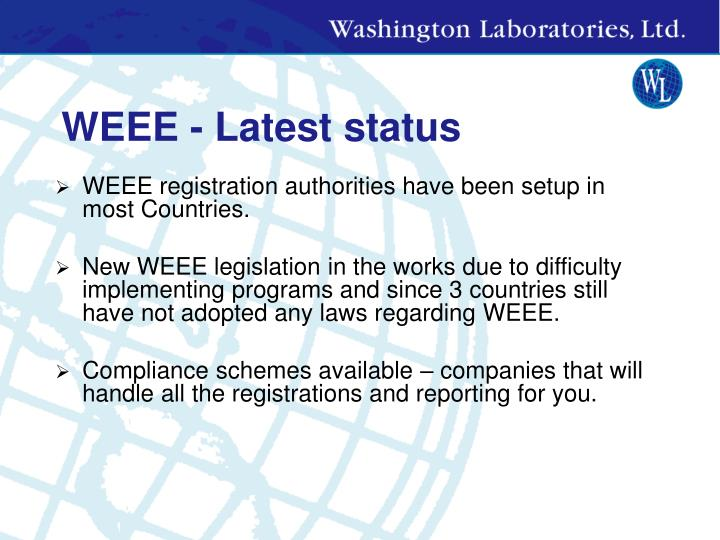 WEEE - Latest status