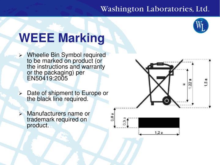 WEEE Marking
