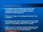 complaints cont1