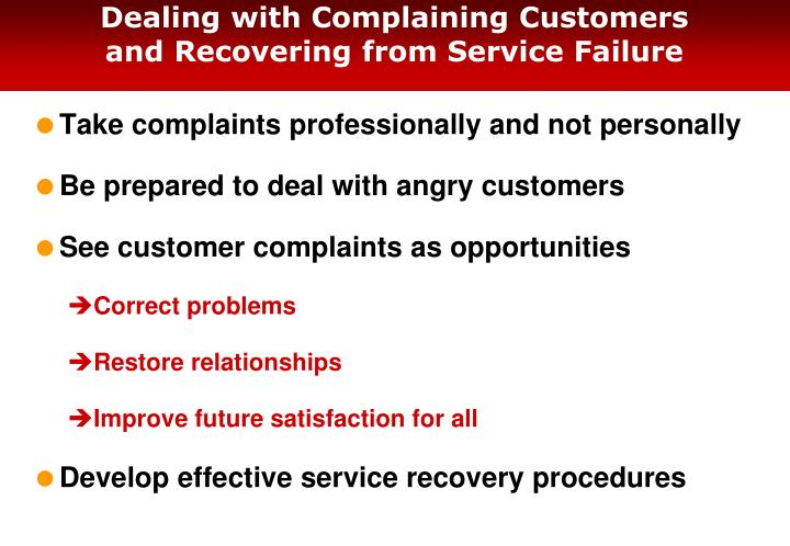Dealing with Complaining Customers