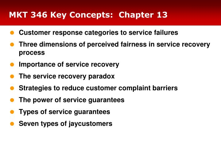 MKT 346 Key Concepts:  Chapter 13