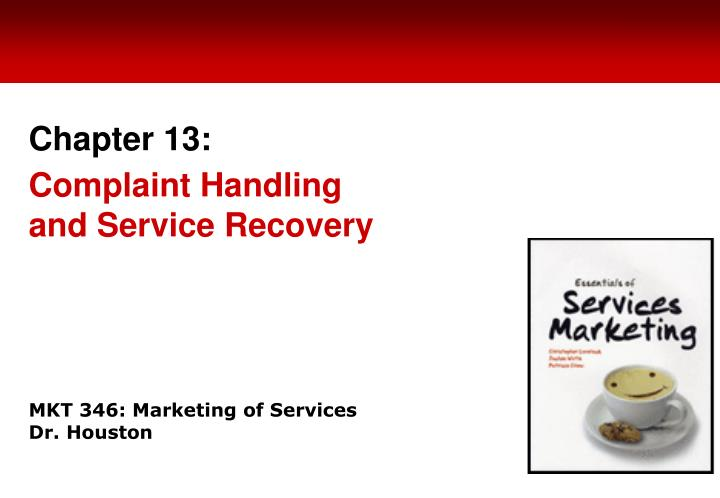 Mkt 346 marketing of services dr houston