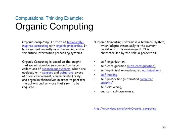 Computational Thinking Example: