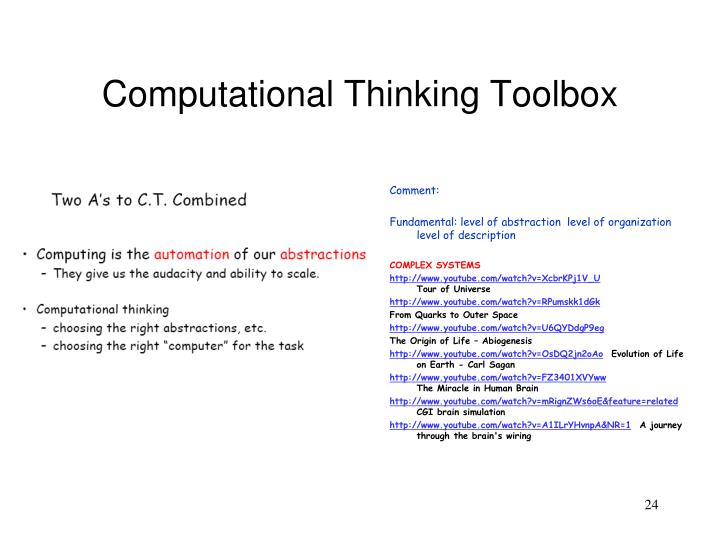 Computational Thinking Toolbox