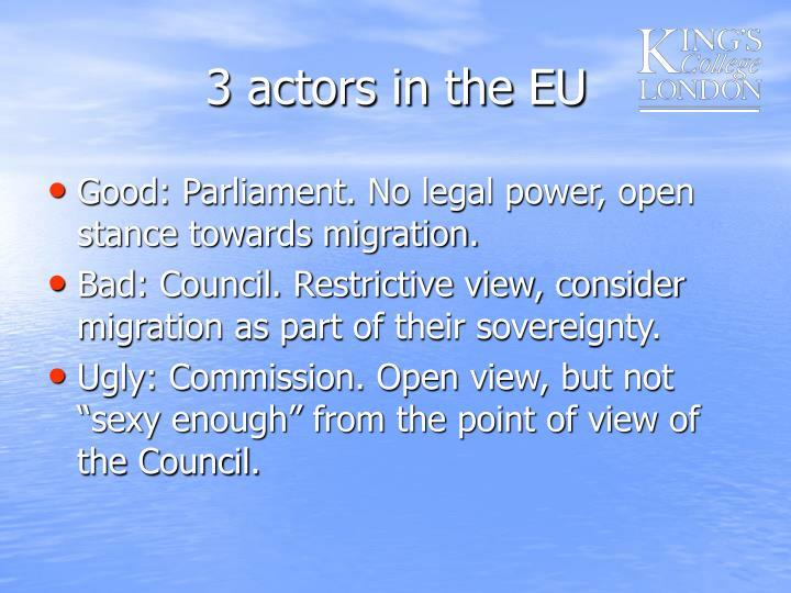 3 actors in the EU