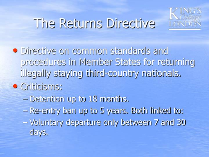 The Returns Directive