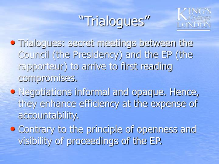 """""""Trialogues"""""""