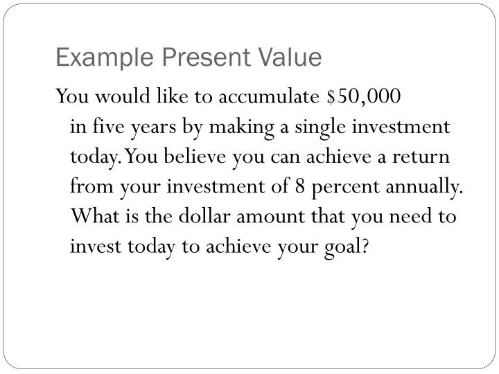Example Present Value