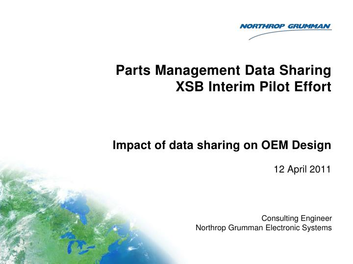parts management data sharing xsb interim pilot effort n.