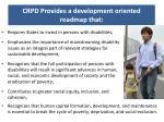 crpd provides a development oriented roadmap that