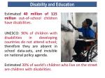 disability and education