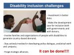 disability inclusion challenges