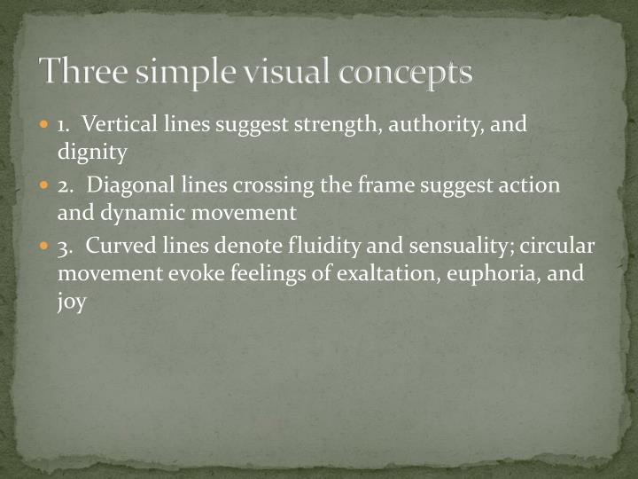 Three simple visual concepts