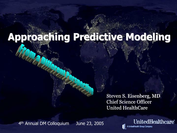 approaching predictive modeling n.
