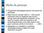 mythe du g notype