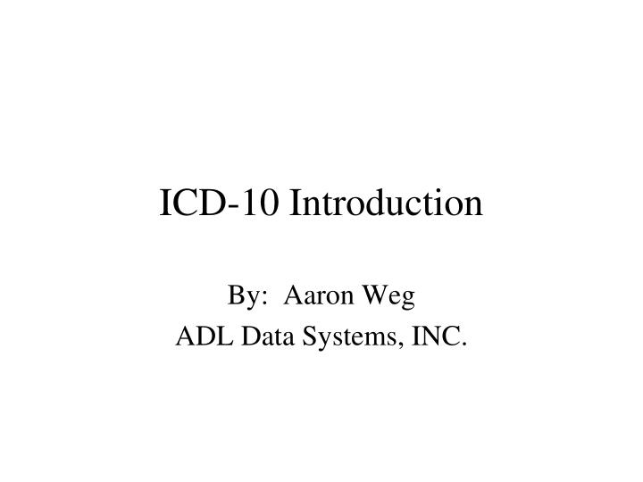 icd 10 introduction n.