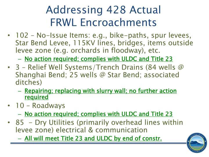 Addressing 428 Actual