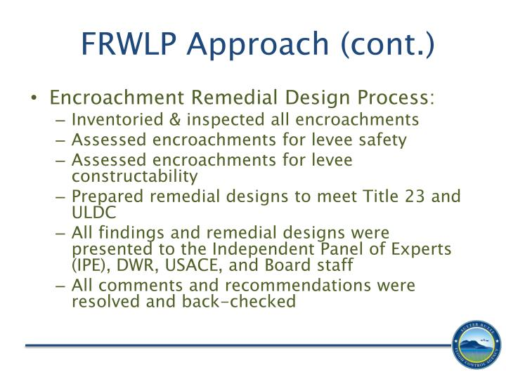 FRWLP Approach (cont.)