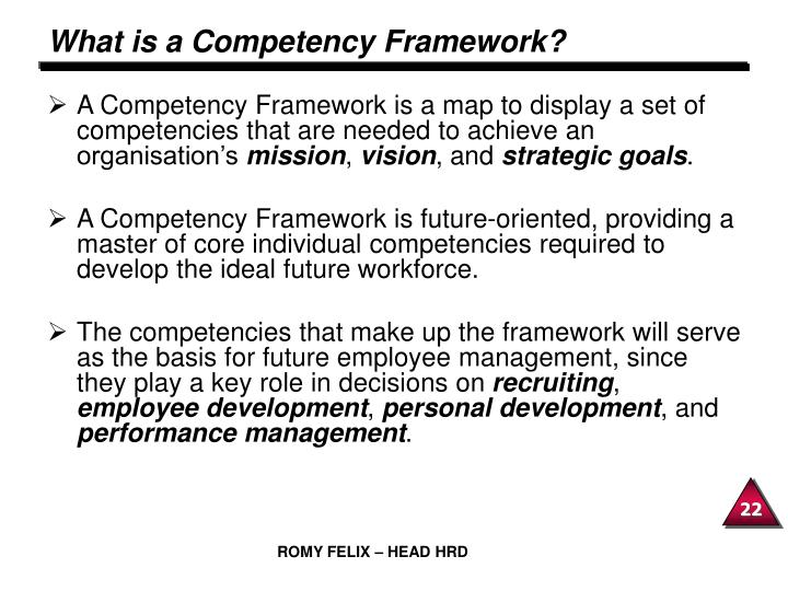 What is a Competency Framework?