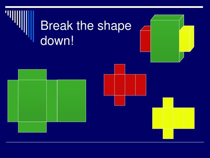 Break the shape down!
