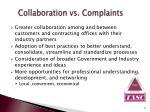 collaboration vs complaints