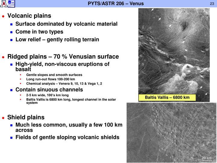 Volcanic plains