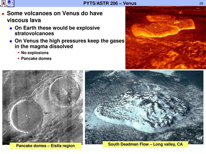 Some volcanoes on Venus do have viscous lava