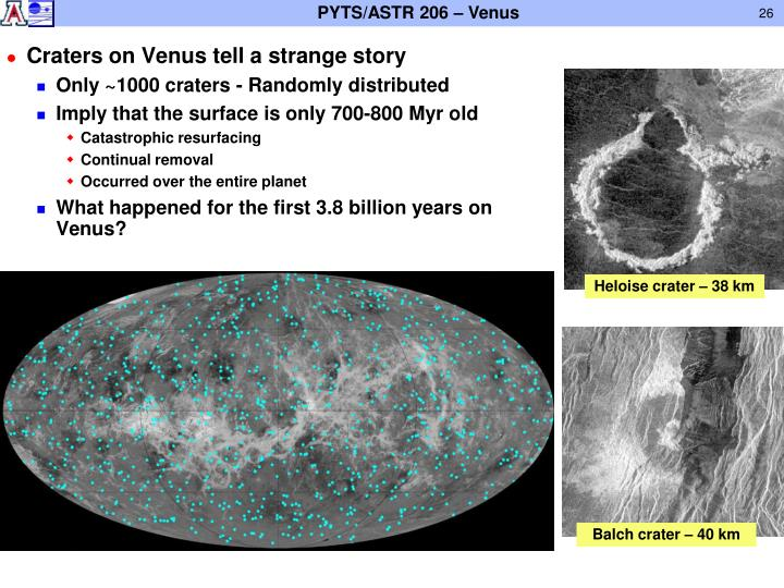 Craters on Venus tell a strange story