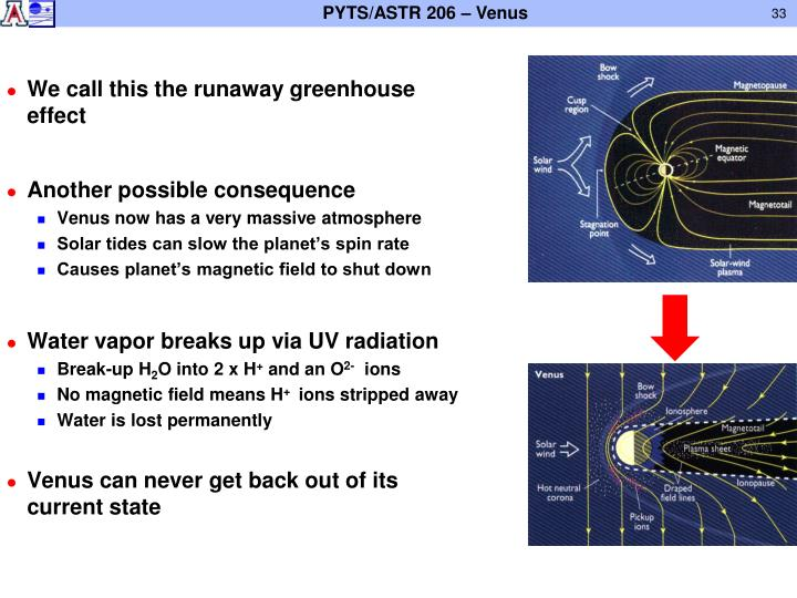 We call this the runaway greenhouse effect