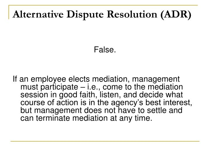 alternative dispute resolution adr strategies research • the need for data collection and research concerning alternative dispute resolution and the most cost-effective methods of meeting that need' 4 in attempting to address these issues, nadrac has undertaken a series of.