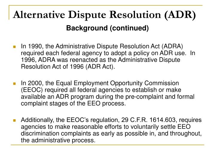 alternate dispute resolution at darden restaurants If the employee is not satisfied with the first three steps of the adr program mentioned above, the matter can move on to the final step: arbitration.