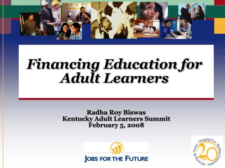 financing education for adult learners n.