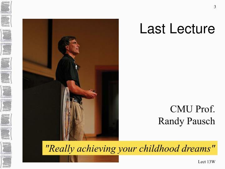 Last lecture1