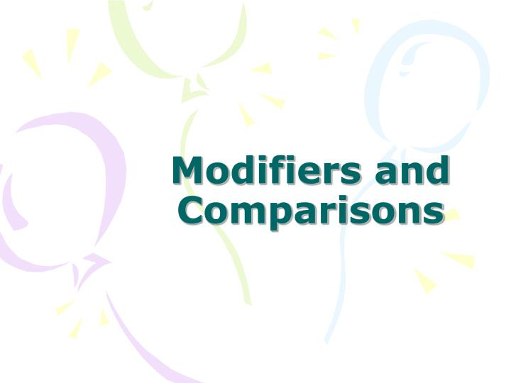 modifiers and comparisons n.