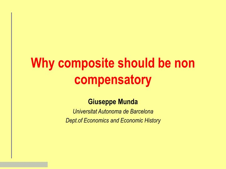 why composite should be non compensatory n.