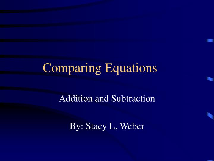 comparing equations n.