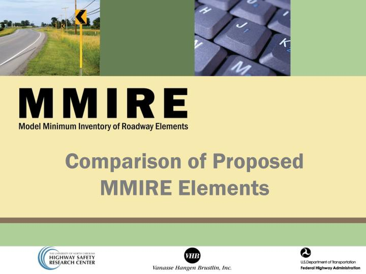 comparison of proposed mmire elements n.