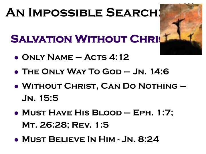 Salvation without christ