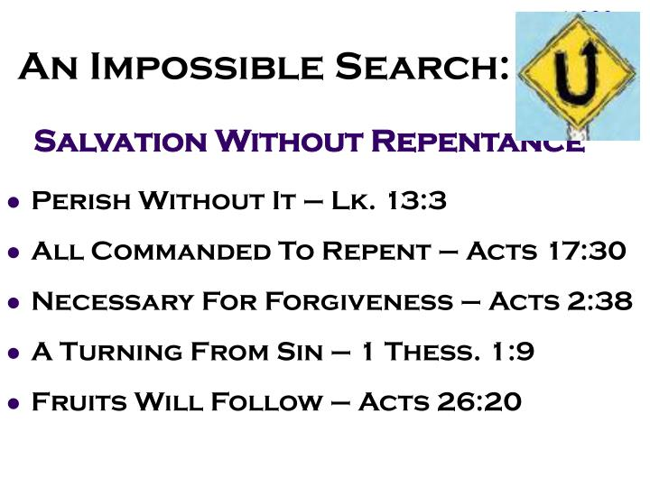 An Impossible Search: