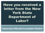 have you received a letter from the new york state department of labor