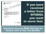 if you have received a letter from nysdol you want to move fast