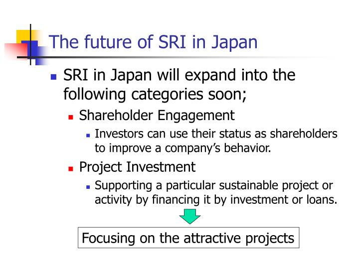 The future of SRI in Japan