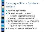 summary of fractal symbolic analysis
