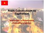 from communism to capitalism