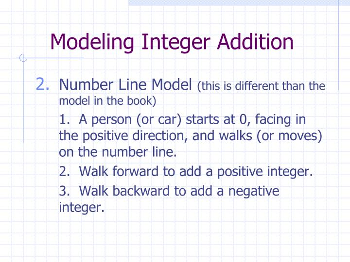 Modeling Integer Addition