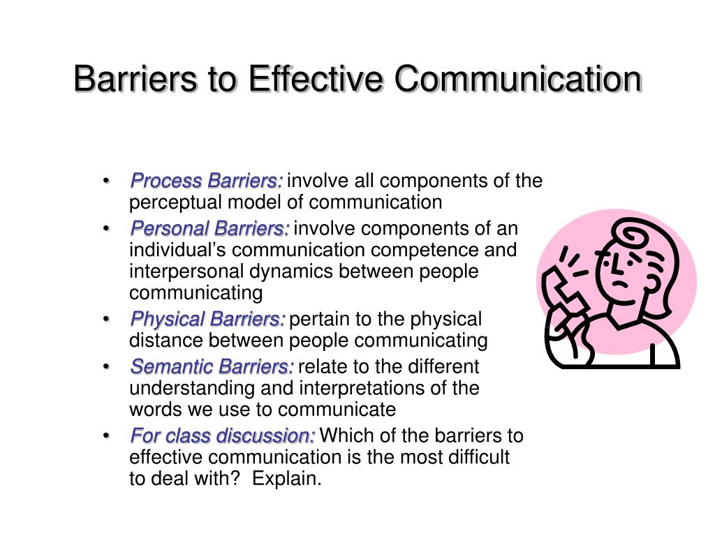 barriers to effective communication process