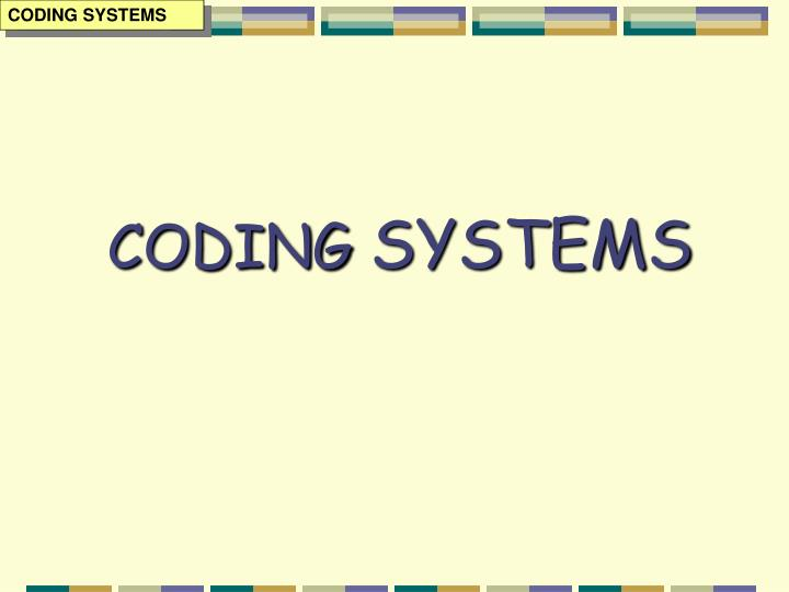 coding systems n.