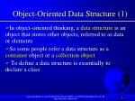 object oriented data structure 1